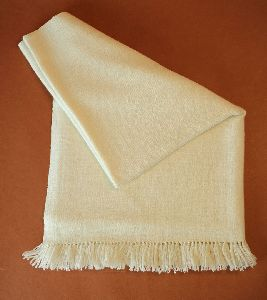 Natural White Merino Wool Stole