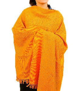 Orange & Sunflower Yellow Lambswool Stole