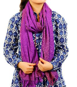 Purple Lambswool Stole