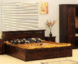 Kuber Design Sheesham Wood Double Bed