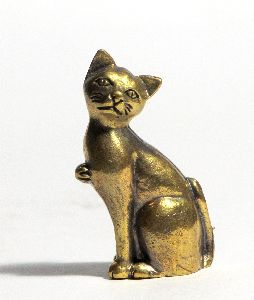Brass Cat Statue