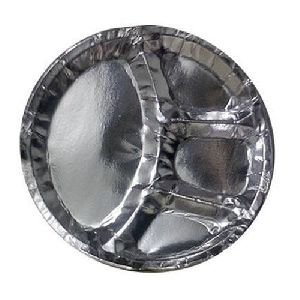 Silver Laminated 4 Cp paper plates