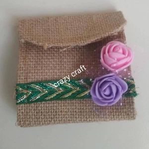 Jute Decorative Coin Pouch