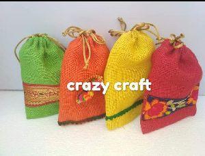 Multicolour Jute Potli Bags