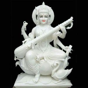 White Marble Saraswati Mata Statue
