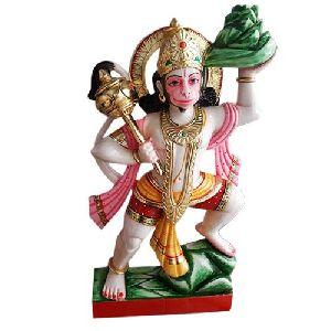 Veer Hanuman Marble Statue