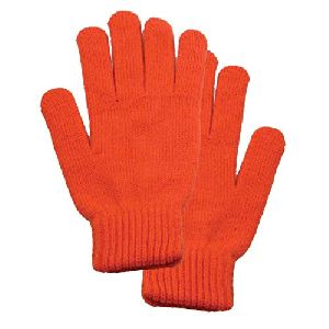 Cotton Yarn Knitted Gloves