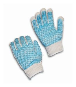 Dotted Cotton Knitted Gloves
