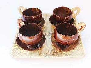 Coconut Shell Tea Cup Set