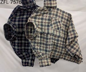 Mens Check Shirt (ZFL 7576)