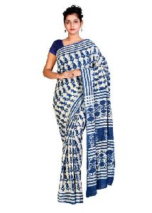Dabu Printed Cotton Sarees