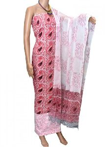 Kalamkari Printed Cotton Suit