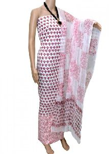 Sanganeri Printed Cotton Suit