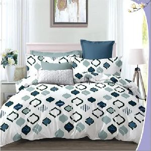 3D Poly Cotton Designer Bedsheet