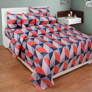 3D Poly Cotton Fancy Bedsheet