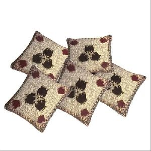 Embroidered Jacquard Cushion