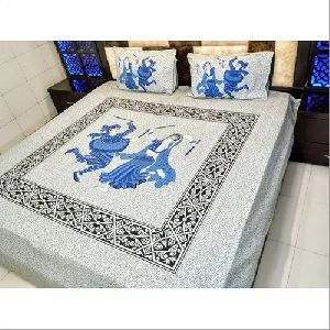Jaipuri Traditional Printed Bedsheet