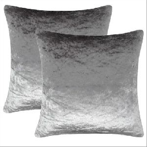 Plain Silver shiny Cushion