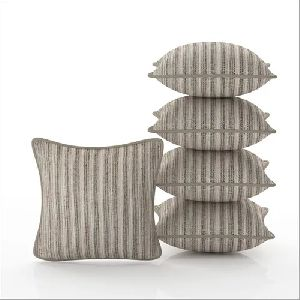 Striped Jute Cushion