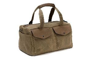 DUF-105 Leather Canvas Messenger Bag