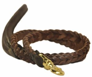 NC-LES-101 Rope Dog Leash with Leather Handle