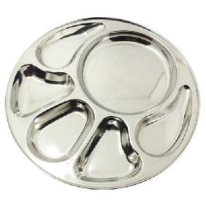 6 Compartment Stainless Steel Thali