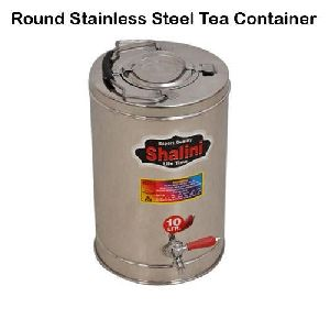Round Stainless Steel Tea Container