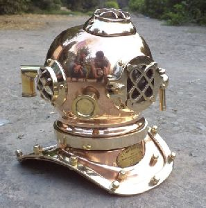 Antique Marine Mini Diving Helmet Replica Mark