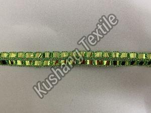 Green Metallic Lace