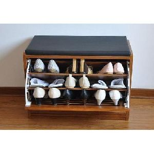 15 Inch Wooden Shoe Rack