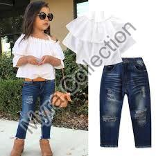 Girls Shirt & Jeans Set