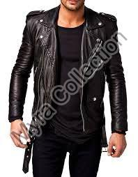 Mens Plain Leather Jacket
