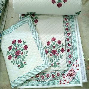 Hand Block Printed Quilt