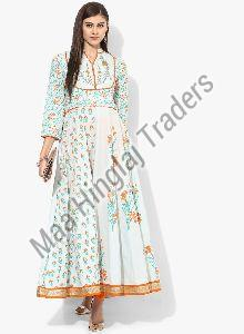 Cotton Printed Anarkali Kurti