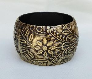 Metal Oxidised Napkin Ring