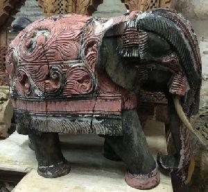 Wooden Elephant Statue