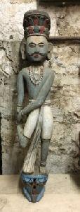 Wooden Man Statue