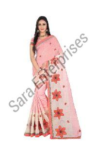 Cotton Embroidered Saree