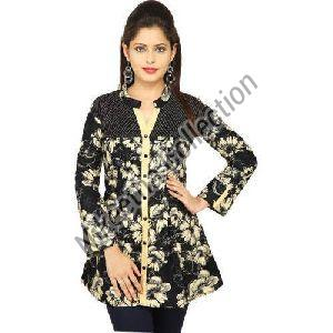Ladies Floral Print Shirt