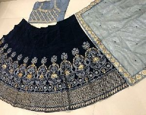 Blue Bollywood Designer Lehenga