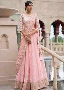 Pink Georgette Lehenga