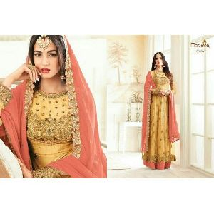 Stone Work Anarkali Suit