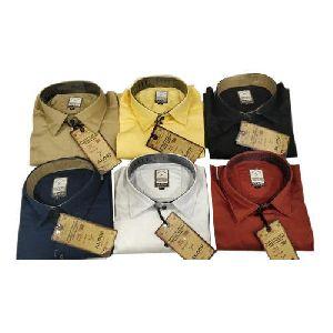 Mens Full Sleeve Plain Shirt