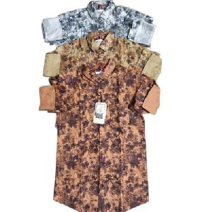 Mens Trendy Printed Shirt