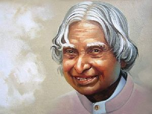 Apj Abdul Kalam 3D Wall and Canvas Painting