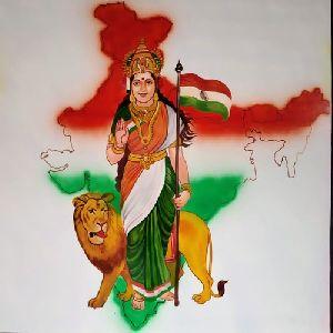 Bharat Mata Painting
