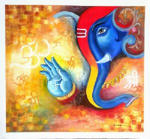 Canvas Ganpati Painting