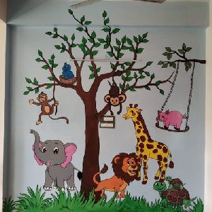 Play School Cartoon Painting