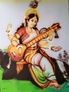 Saraswati Mata Wall Painting