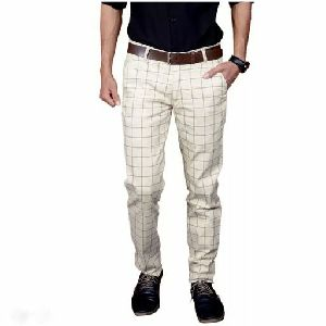 Mens Checkered Trouser